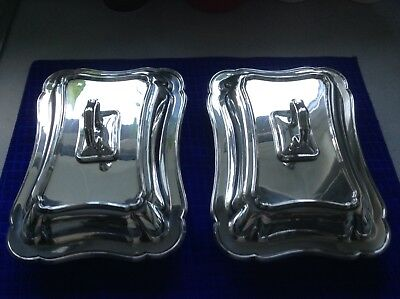 Two Edwardian Silver Plated Serving Dishes by William Hutton Sons.