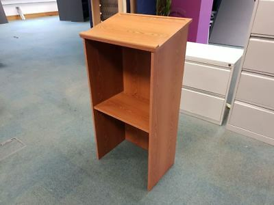 Safco Stand-Up Lectern with Paper Stop and Pen Tray Cherry