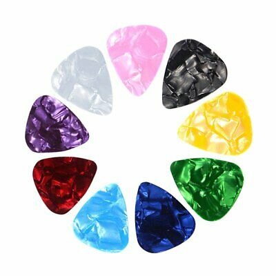 Practical Guitar Picks Acoustic Electric Plectrums Celluloid Assorted Colors HU