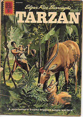 Tarzan #127 (Dell Comics, Dec 1961) 3.5 VG-