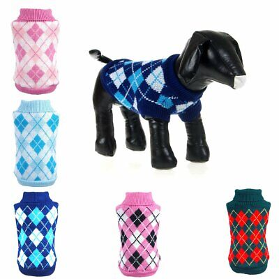 Pet Dog Jumper Sweater Clothes Puppy Cats Winter Warm Knitwear Knitted Coat HU