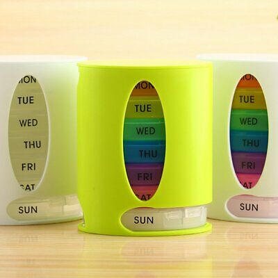 Plastic Pill Box Weekly/Monthly Medication Dispenser Organizer Container HU