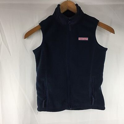 Vineyard Vines Kids Fleece Vest Navy Blue Full Zip Size 6