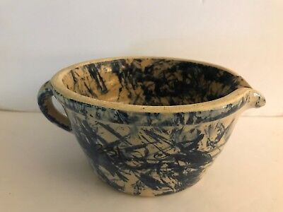 Jerry Brown Pottery Batter/Mixing Bowl with Handle & Pour Spout , Hamilton Al.