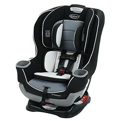 Graco Extend2Fit Convertible Car Seat Gotham Polyester Adjustable Rear Facing