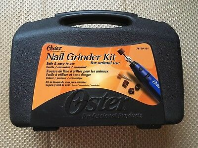 Oster PROFESSIONAL GROOMER Nail Grinder KIT w/CASE,Bands, Tools, Cat, Dogs, Bird
