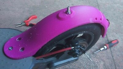 SEND OFFER Xiaomi Scooter M365 mudguard CUSTOM COLOR ABS + 2 x Anti Slack damper