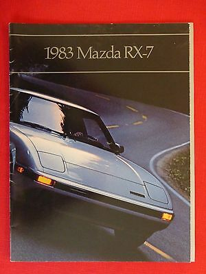 1983 Rx-7 Sales Brochure Catalog Rx7