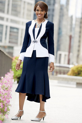 size 14 Cherelle 3 Piece Skirt Suit church special event new by Ashro