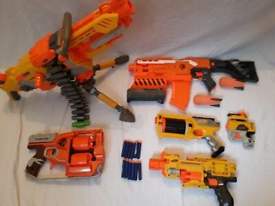 HUGE Nerf Gun Bundle Havok Fire Demolisher 2 In 1 Flip Fury Motorised Bundle