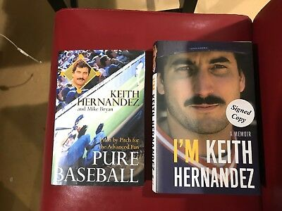 Pure Baseball and I Am Keith Hernandez by Keith Hernandez Signed First Editions