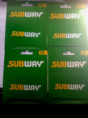 4x Subway gift card with holder (----0----balance) for collecting only !
