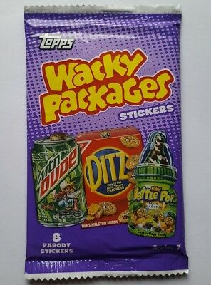 2010 Topps Wacky Packages Series 7 Sticker Pack + Bonus Cards & Holders