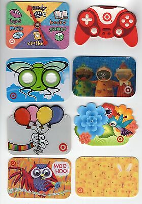 Lot Of 8 Old TARGET Gift Cards  event #s 0541 0810 1053 0914 1187 0907 0663 1181