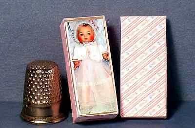 Dollhouse Miniature 1:12 Toodles Doll Box 1950s retro dollhouse girl nursery