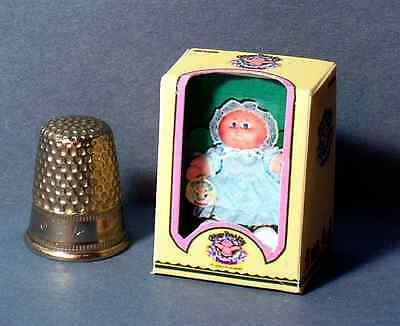 Dollhouse Miniature 1:12 Cabbage Patch Preemie Girl Doll Box   girl nursery