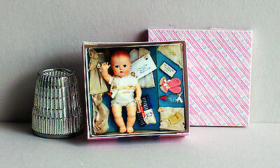 Dollhouse Miniature 1:12 Tiny Tears Layette Doll Box 1950s Dollhouse nursery