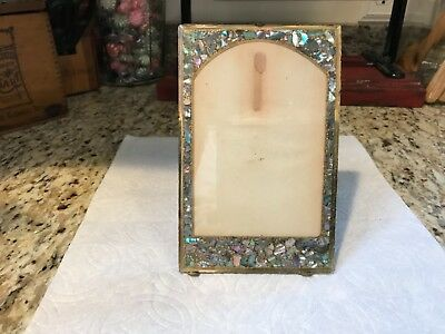 Antique Photo Frame1800's - Mother of Pearl Inlay- Beautiful Early Craftsmanship