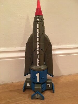 "Large thunderbirds 1 rocket 14"" tall"