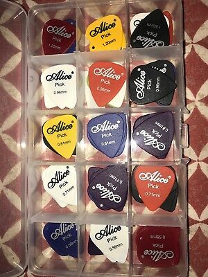 10 GUITAR PICKS ALICE PLECTRUM Plec ELECTRIC ACOUSTIC BASS Assorted Colours