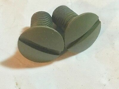 Harley Knucklehead WLA UA ULA ELA ELC WW-II Shift Guide Screws OD Green 2210-36N