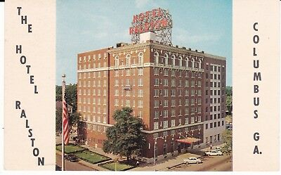 "Columbus GA  ""The Hotel Ralston""  Postcard Georgia  *FREE US SHIP*"