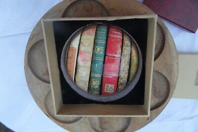 """Glass Dome Library Scene Semi Spherical Paperweight 3""""new In Box Xmas Gift Ho Ho"""