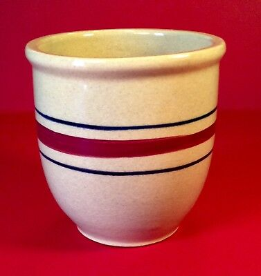 Vintage Robinson Ransbottom RRP Co Roseville 32 oz. Yellow Ware Stoneware Crock