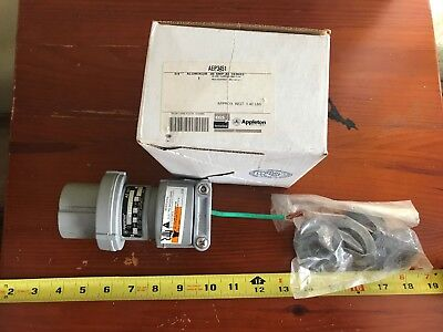 Appleton AEP3451 600v-ac 30a Amp 4w 4p Clamping Ring Plug NEW Electrical