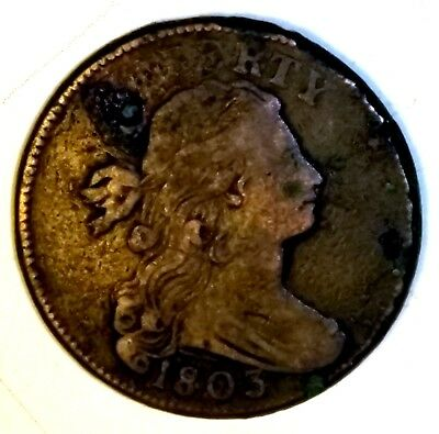 1803 Draped Bust Large Cent - Very Fine