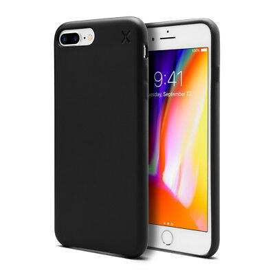 Casetify X Couverture de protege mate durable snap noir pour iPhone 7plus 8plus