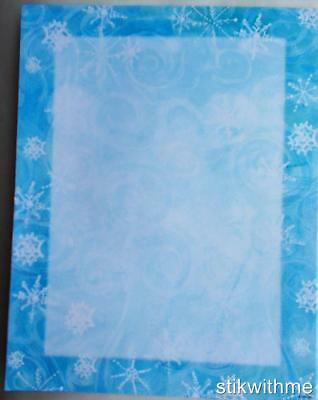 New WINTER SNOWFLAKES  Specialty Themed Stationery Computer Printer Paper 16 ct.