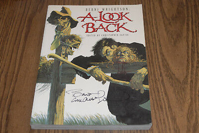 Bernie Wrightson Autographed Signed 1991 A Look Back Softcover Horror Best BOOK!