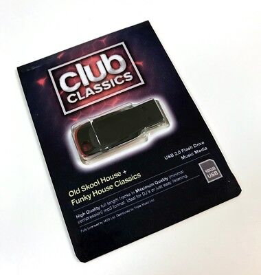 'Club Classics' House Music Collection - USB - x1000 Un-mixed Full Length Tracks