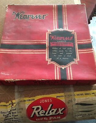 Jones Relax Seamed No. 570 Bed Pan And Wearever Molded Ice Cap