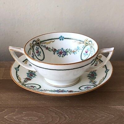 Rare Minton Ivanhoe Cream Soup Bowl(s) and Underplate(s)