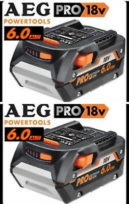 2 Pack Genuine AEG L1860R 18V Pro 6.0Ah 108Wh Hyper Li-ion Battery