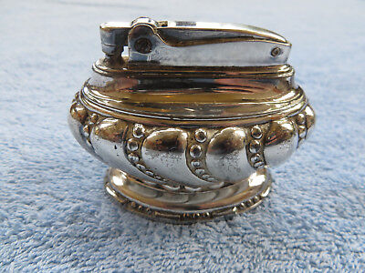 """Vintage Ronson """"Crown"""" Silver Plated Table Lighter Cigarette  - 2 Avail."""