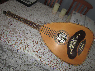 Vintage Greek Laouto Stringed Instrument (made by Vracas in New York in 1923)
