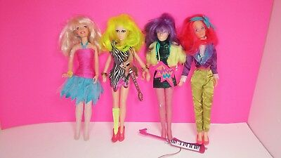 Hasbro 1985 Jem and The Holograms Vintage Doll Lot Misfits Pizzazz Clash Kimber
