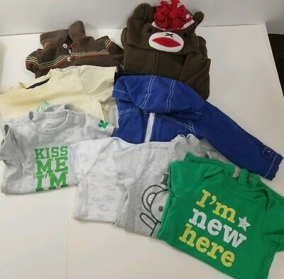 Lot of 8 - Baby Toddler Boy Clothes Irish 12-18 Month - Old Navy, Little Bundles