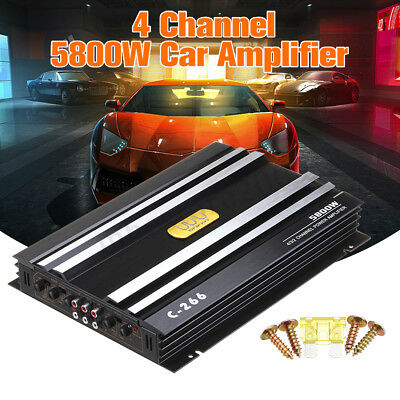 5800W Watt 4 CH Car Truck Amplifier Stereo Audio Speaker Amp For Subwoofer