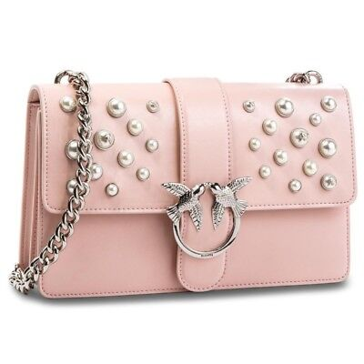 PINKO. BAG 1P216HY4YB love leather pearls 100% leather  26d0ce6d846