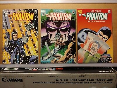 C166  The Phantom: Ghost Who Walks #'s 1, 2 & 3  (1995)  Marvel Comics  VF+/NM
