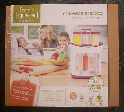 Infantino Fresh Squeeze Feeding Line Station - Press and Store -  BRAND NEW