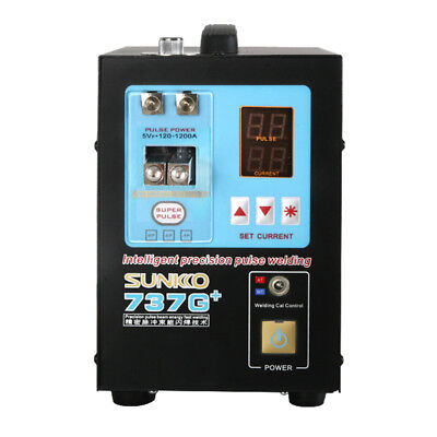 Automatic Spot Big Power Dual Mode 1200A Pulse Current Mobile SUNKKO 737G+ E0O6