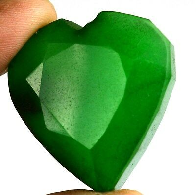 Natural Green Emerald Loose Gemstone 134.25 Ct Heart Shape Brazilian Super Sale
