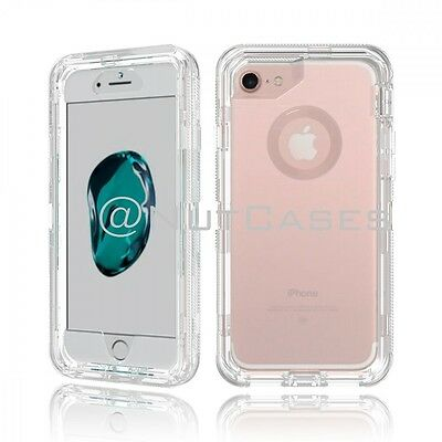 For iPhone X 8 7 6 & Plus XR XS MAX Clear Defender Cover Case Clip Fits Otterbox
