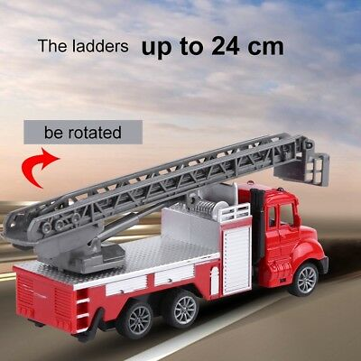 1/64 Model Pull-back Vehicle Fire Fighting Car Die-cast Truck Kids Toy Gift