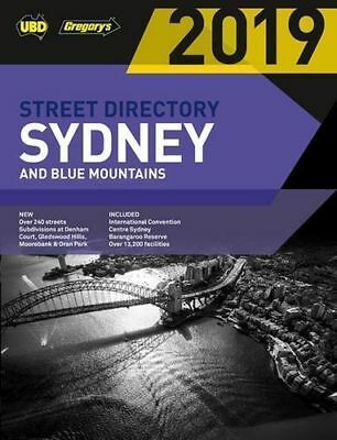 Sydney & Blue Mountains Street Directory 2019 55th Edition By UBD Gregory's NEW